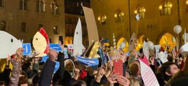 Les sardines neden a favor de l'esquerra italiana